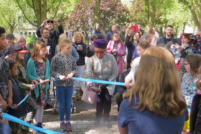 Children lead May Day celebration at St Edith's Well