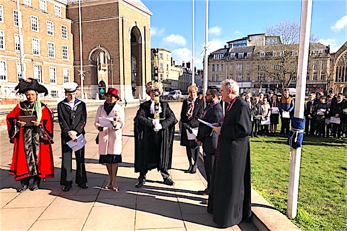 Flag raising for Commonwealth Day