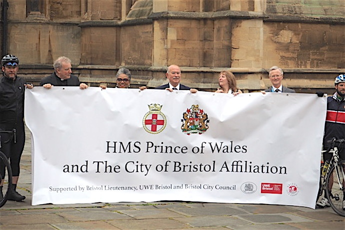 HMS PRINCE OF WALES to sail through Bristol