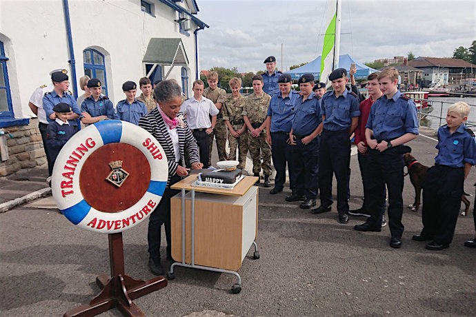 TS Adventure Sea Cadets celebrate 80th birthday - hoorah!